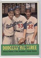 Johnny Podres, Don Drysdale, Sandy Koufax
