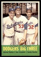 Johnny Podres, Don Drysdale, Sandy Koufax [VG EX]