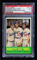 Johnny Podres, Don Drysdale, Sandy Koufax [PSA 5]