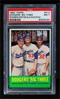 Johnny Podres, Don Drysdale, Sandy Koufax [PSA 7]