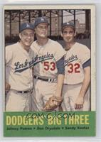 Johnny Podres, Don Drysdale, Sandy Koufax
