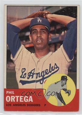 1963 Topps - [Base] #467 - Phil Ortega [GoodtoVG‑EX]