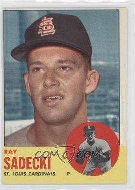 1963 Topps - [Base] #486 - Ray Sadecki