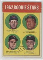 1962 Rookie Stars (Nelson Mathews, Harry Fanok, Dave DeBusschere, Jack Curtis) …