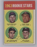 1963 Rookie Stars (Nelson Mathews, Harry Fanok, Dave DeBusschere, Jack Curtis) …