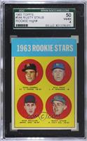High # - 1963 Rookie Stars (Duke Carmel, Bill Haas, Dick Phillips, Rusty Staub)…