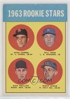 High # - 1963 Rookie Stars (Duke Carmel, Bill Haas, Dick Phillips, Rusty Staub)