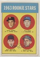 High # - 1963 Rookie Stars (Duke Carmel, Bill Haas, Dick Phillips, Rusty Staub)…