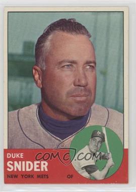 1963 Topps - [Base] #550 - Duke Snider