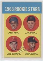 1963 Rookie Stars (Brock Davis, Jim Gosger, John Herrnstein, Willie Stargell)