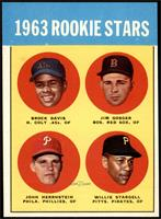 High # - 1963 Rookie Stars (Brock Davis, Jim Gosger, John Herrnstein, Willie St…