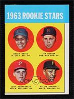 High # - 1963 Rookie Stars (Brock Davis, Jim Gosger, John Herrnstein, Willie St…