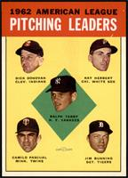 Ralph Terry, Dick Donovan, Ray Herbert, Camilo Pascual, Jim Bunning [NM MT]
