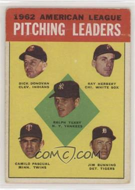 1963 Topps - [Base] #8 - Ralph Terry, Dick Donovan, Ray Herbert, Camilo Pascual, Jim Bunning [PoortoFair]
