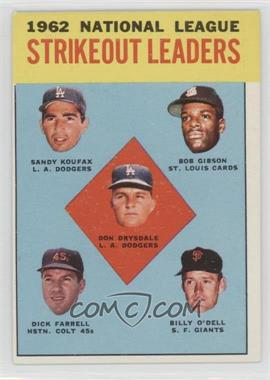 1963 Topps - [Base] #9 - Don Drysdale, Sandy Koufax, Bob Gibson, Turk Farrell, Billy O'Dell