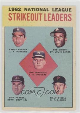 1963 Topps - [Base] #9 - Don Drysdale, Sandy Koufax, Bob Gibson, Turk Farrell, Billy O'Dell