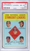 Don Drysdale, Sandy Koufax, Bob Gibson, Turk Farrell, Billy O'Dell [PSA 8.…