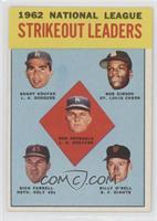 Don Drysdale, Sandy Koufax, Bob Gibson, Turk Farrell, Billy O'Dell