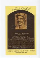 Sandy Koufax [SGC Authentic Authentic]