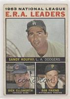 1963 NL ERA Leaders (Sandy Koufax, Dick Ellsworth, Bob Friend)