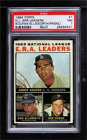 1963 NL ERA Leaders (Sandy Koufax, Dick Ellsworth, Bob Friend) [PSA7…