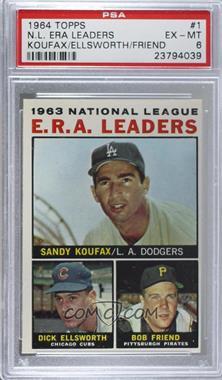 1964 Topps - [Base] #1 - Sandy Koufax, Dick Ellsworth, Bob Friend [PSA6EX‑MT]