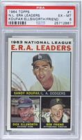 Sandy Koufax, Dick Ellsworth, Bob Friend [PSA 6 EX‑MT]