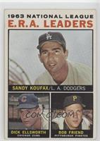 Sandy Koufax, Dick Ellsworth, Bob Friend [GoodtoVG‑EX]