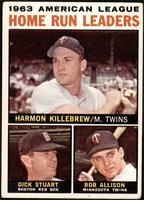 1963 AL Home Run Leaders (Harmon Killebrew, Bob Allison, Dick Stuart) [VG]