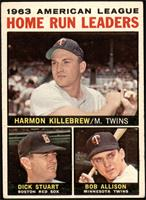 Harmon Killebrew, Bob Allison, Dick Stuart [VG]
