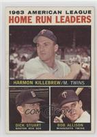 Harmon Killebrew, Bob Allison, Dick Stuart