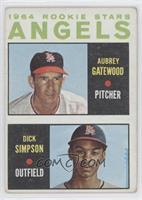 1964 Rookie Stars - Aubrey Gatewood, Dick Simpson [GoodtoVG‑E…