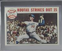 1963 World Series - Game #1: Koufax Strikes Out 15 (Sandy Koufax) [Excellent&#8…