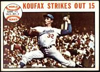 1963 World Series - Game #1: Koufax Strikes Out 15 (Sandy Koufax) [VG EX]