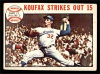 1963 World Series - Game #1: Koufax Strikes Out 15 (Sandy Koufax) [VG]