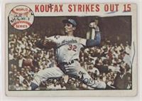 1963 World Series - Game #1: Koufax Strikes Out 15 (Sandy Koufax) [Poorto…