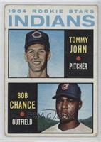 1964 Rookie Stars - Tommy John, Bob Chance [GoodtoVG‑EX]