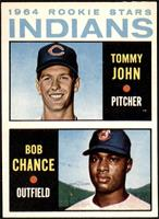 1964 Rookie Stars Indians (Tommy John, Bob Chance) [EX+]