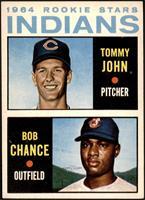 1964 Rookie Stars Indians (Tommy John, Bob Chance) [VGEX+]