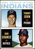 1964 Rookie Stars Indians (Tommy John, Bob Chance) [VGEX]