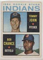 1964 Rookie Stars Indians (Tommy John, Bob Chance) [Good to VG‑…
