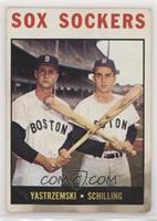 Sox Sockers (Carl Yastrzemski, Chuck Schilling) [Poor]