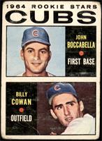 1964 Rookie Stars - John Boccabella, Billy Cowan [POOR]
