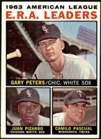 1963 AL ERA Leaders (Juan Pizarro, Camilo Pascual, Gary Peters) [EX MT]