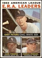 1963 AL ERA Leaders (Juan Pizarro, Camilo Pascual, Gary Peters) [EX]