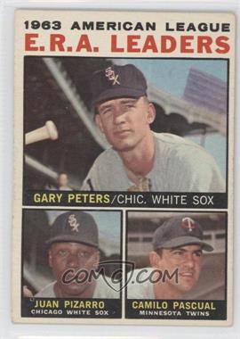 1964 Topps - [Base] #2 - Juan Pizarro, Camilo Pascual, Gary Peters