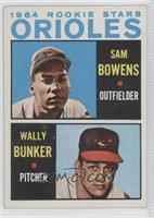 1964 Rookie Stars - Sam Bowens, Wally Bunker