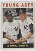 Young Aces (Al Downing, Jim Bouton) [Poor]