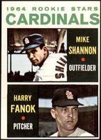 1964 Rookie Stars - Mike Shannon, Harry Fanok [VGEX]