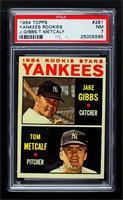 Yankees Rookie Stars (Jake Gibbs, Tom Metcalf) [PSA7NM]